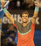 Rafael Nadal (ESP) defeats Roger Federer, 7-6, 6-3, 6-3