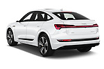 Car pictures of rear three quarter view of 2020 Audi e-tron-Sportback S-Line 5 Door SUV Angular Rear