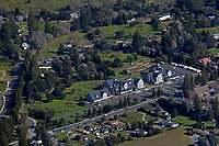 aerial photograph of 1003-1007 Gravenstein Highway North, also known as California State Highway 116, Sebastopol, Sonoma County, California