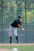 New York Yankees third baseman Dermis Garcia (68) during an Instructional League game against the Pittsburgh Pirates on September 18, 2014 at the Pirate City in Bradenton, Florida.  (Mike Janes/Four Seam Images)