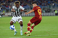 23rd September 2021;  Stadio Olimpicom, Roma, Italy; Serie A League Football, Roma versus Udinese; Brandon Soppy of Udinese and Stephan El Shaarawy of As Roma