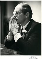 John Trevor Eyton<br /> , President and CEO, BRASCAN, 1982<br /> <br /> PHOTO : Agence Quebec Presse