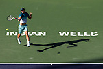 March 17, 2019: Dominic Thiem (AUT) in action where he defeated Roger Federer (SUI) 6-3, 3-6, 7-5 in the finals of the BNP Paribas Open at the Indian Wells Tennis Garden in Indian Wells, California. ©Mal Taam/TennisClix/CSM