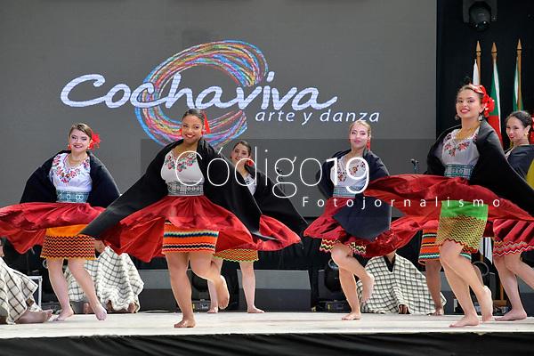 NOVA PETRÓPOLIS, RS, 02.08.2019:  47. FESTIVAL INTERNACIONAL DE FOLCLORE - A Compañia Cochaviva Danza, da Colômbia,  durante apresentação na 47. edição do Festival Internacional de Folclore de Nova Petrópolis/RS, na Serra Gaúcha, nesta sexta-feira (02). (Foto: Donaldo Hadlich/(Código19)