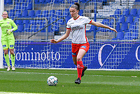 Romy Camps (3) of Zulte-Waregem pictured during a female soccer game between  Racing Genk Ladies and SV Zulte-Waregem on the 18 th and last matchday before the play offs of the 2020 - 2021 season of Belgian Scooore Womens Super League , saturday 27 th of March 2021  in Genk , Belgium . PHOTO SPORTPIX.BE | SPP | JILL DELSAUX