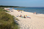 Sweden, Kalmar County, island Oeland, Boeda: Lyckesand beach at Boeda Bay in Northern Oeland | Schweden, Kalmar laen, Insel Oeland, Boeda: Lyckesand beach in der Boedabucht im Norden der Insel