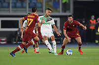 12th September 2021; Olimpico Stadium, Rome, Italy; Serie A championship football, AS Roma versus US Sassulo ; Gianluca Scamacca of US Sassuolo