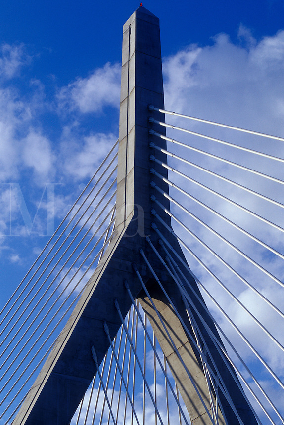 Tower of the Leonard P. Zakim Bunker Hill Bridge, site of the Big Dig