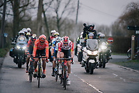 Tim Wellens (BEL/Lotto-Soudal) & Greg VAN AVERMAET (BEL/CCC) taking a turn in the front group in the finale<br /> <br /> 74th Omloop Het Nieuwsblad 2019 <br /> Gent to Ninove (BEL): 200km<br /> <br /> ©kramon