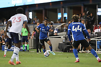SAN JOSE, CA - AUGUST 13: Marcos Lopez #27 of the San Jose Earthquakes during a game between Vancouver Whitecaps and San Jose Earthquakes at PayPal Park on August 13, 2021 in San Jose, California.