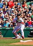 22 June 2019: Boston Red Sox first baseman Michael Chavis gets the second out in the first inning against the Toronto Blue Jays at Fenway :Park in Boston, MA. The Blue Jays rallied to defeat the Red Sox 8-7 in the 2nd game of their 3-game series. Mandatory Credit: Ed Wolfstein Photo *** RAW (NEF) Image File Available ***