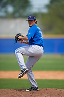 Toronto Blue Jays Denis Diaz (38) during a minor league Spring Training game against the Philadelphia Phillies on March 26, 2016 at Englebert Complex in Dunedin, Florida.  (Mike Janes/Four Seam Images)