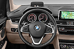Car pictures of steering wheel view of a 2015 BMW 2 Series Gran Tourer Luxury 5 Door Mini Mpv Steering Wheel