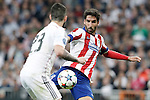 Real Madrid's Isco (l) and Atletico de Madrid's Raul Garcia during Champions League 2014/2015 Quarter-finals 2nd leg match.April 22,2015. (ALTERPHOTOS/Acero)