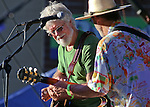 Paul Barrère, left, and Fred Tackett, formerly of Little Feat, perform at the Concert Under the Stars event benefiting the Greenhouse Project in Carson City, Nev., on Wednesday, July 9, 2014.<br /> Photo by Cathleen Allison