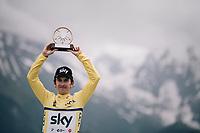 Geraint Thomas (GBR/SKY) wins the 70th Dauphiné<br /> <br /> Stage 7: Moûtiers > Saint-Gervais Mont Blanc (129km)<br /> 70th Critérium du Dauphiné 2018 (2.UWT)