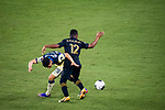Richard Sanchez of Club America (MEX) and Diego Palacios of Los Angeles FC (USA)  in action during their CONCACAF Champions League Semi Finals match at the Orlando's Exploria Stadium on 19 December 2020, in Florida, USA. Photo by Victor Fraile / Power Sport Images