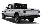 Car pictures of rear three quarter view of a 2020 Jeep Gladiator Overland 4 Door Pick Up angular rear