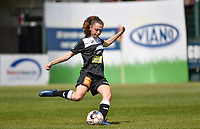 Tiffanie Vanderdonckt (5) of Eendracht Aalst pictured during a female soccer game between Eendracht Aalst and Racing Genk on the 10 th and last matchday of play off 2 of the 2020 - 2021 season of Belgian Scooore Womens Super League , Saturday 29 st of May 2021  in Aalst , Belgium . PHOTO SPORTPIX.BE | SPP | DAVID CATRY