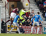 Wes Foderingham fumbles the ball in the leadup to goal no 4