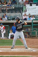 Visalia Rawhide right fielder Daniel Palka (27) at bat during a game against the Stockton Ports at Banner Island Ballpark on August 15, 2015 in Stockton, California. Visalia defeated Stockton 9-1. (Robert Gurganus/Four Seam Images)