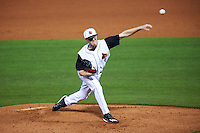 Louisville Cardinals relief pitcher Rabon Martin (40) delivers a pitch during a game against the Maryland Terrapins on February 18, 2017 at Spectrum Field in Clearwater, Florida.  Louisville defeated Maryland 10-7.  (Mike Janes/Four Seam Images)