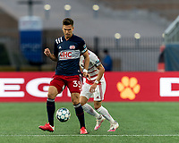 FOXBOROUGH, MA - AUGUST 21: Collin Verfurth #35 of New England Revolution II controls the ball during a game between Richmond Kickers and New England Revolution II at Gillette Stadium on August 21, 2020 in Foxborough, Massachusetts.