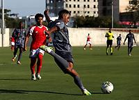 BARRANQUILLA - COLOMBIA, 13-03-2021: Barranquilla F. C. y Tigres F. C. durante partido de la fecha 11 por el Torneo BetPlay DIMAYOR 2021 en el estadio Romelio Martinez en la ciudad de Barranquilla. / Barranquilla F. C. and Tigres F. C. during a match of the 11th for the BetPlay DIMAYOR 2021 Tournament at the Romelio Martinez stadium in Barranquilla city. Photo: VizzorImage / Jairo Cassiani / Cont.
