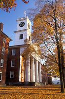 Amherst, college, church, MA, Massachusetts, Johnson Chapel on Amherst College campus in Amherst in the autumn.
