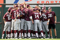 Texas A&M Aggies before their game against the Texas Longhorns in NCAA Big XII Conference baseball on May 21, 2011 at Disch Falk Field in Austin, Texas. (Photo by Andrew Woolley / Four Seam Images)