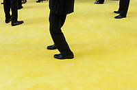 USA, New York City, Manhattan, NYSE New York Stock Exchange at Wall Street, manager on yellow carpet