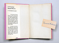 "BNPS.co.uk (01202) 558833. <br /> Pic: PeterHarrington/BNPS<br /> <br /> Pictured: The first edition of 'A Streetcar Named Desire' with a slip of paper signed by Tennessee Williams. <br /> <br /> A rare first edition book which is inscribed by Hollywood legend Marlon Brando has emerged for sale for £15,000.<br /> <br /> The Godfather actor wrote a personal message on the title page of the copy of Tennessee Williams' 'A Streetcar Named Desire' in 1947. He was starring in the play on Broadway at the time.<br /> <br /> Brando, who was still relatively unknown, penned some sweet words to 'Carol', the daughter of fellow cast member Peg Hillias.<br /> <br /> It was given to her as a 16th birthday present and Brando wrote: ""To Carol, with warm affection, Marlon Brando.""<br /> <br /> The book, which was signed by the majority of the cast, is now being sold by London-based book dealer Peter Harrington."