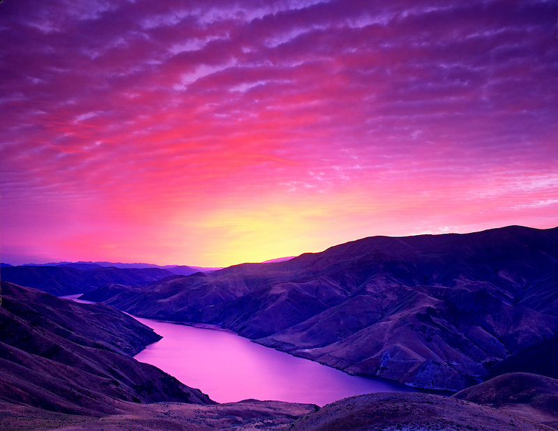Sunrise and Snake River. Near Richland, Oregon (available as a tiff scan only)
