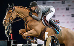 Kevin Staut of France rides Estoy Aqui de Muze HDC in action during the Longines Grand Prix as part of the Longines Hong Kong Masters on 15 February 2015, at the Asia World Expo, outskirts Hong Kong, China. Photo by Victor Fraile / Power Sport Images