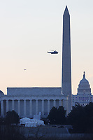 Marine One flies Over Washington, D.C.