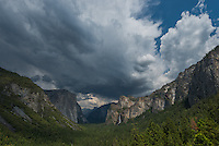 Yosemite National Park from tunnel view in spring, California, CA