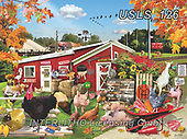 Lori, REALISTIC ANIMALS, REALISTISCHE TIERE, ANIMALES REALISTICOS, zeich, paintings+++++Barnyard Football Game_6_12in_72,USLS126,#a#, EVERYDAY ,puzzle,puzzles