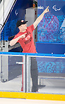 Derek Whitson, Sochi 2014 - Para Ice Hockey // Para-hockey sur glace.<br /> Canada's Para Ice Hockey team practices before the games begin // L'équipe canadienne de para hockey sur glace s'entraîne avant le début des matchs. 01/03/2014.