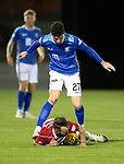 Hamilton Accies v St Johnstone…06.02.19…   New Douglas Park    SPFL<br />Dougie Imrie is brought down by Sean Goss<br />Picture by Graeme Hart. <br />Copyright Perthshire Picture Agency<br />Tel: 01738 623350  Mobile: 07990 594431