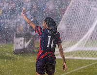 EAST HARTFORD, CT - JULY 1: Christen Press #11 of the USWNT waves to fans during a game between Mexico and USWNT at Rentschler Field on July 1, 2021 in East Hartford, Connecticut.