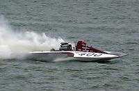 GP-400, Grand Prix class hydroplane.Rising Sun Regatta, Ohio River, Rising Sun, IN, USA 8-9 September,2001.Copyright©F.Peirce Williams 2001..F. Peirce Williams .photography.P.O.Box 455  Eaton, OH 45320 USA.p: 317.358.7326  e: fpwp@mac.com