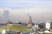 - Milan, landscape from the terrace of Vittorio Emanuele II gallery, Skyscraper City Life and Sforzesco Castle<br /> <br /> - Milano, panorama dalla terrazza della Galleria Vittorio Emanuele II, grattacielo City Life e Castello Sforzesco
