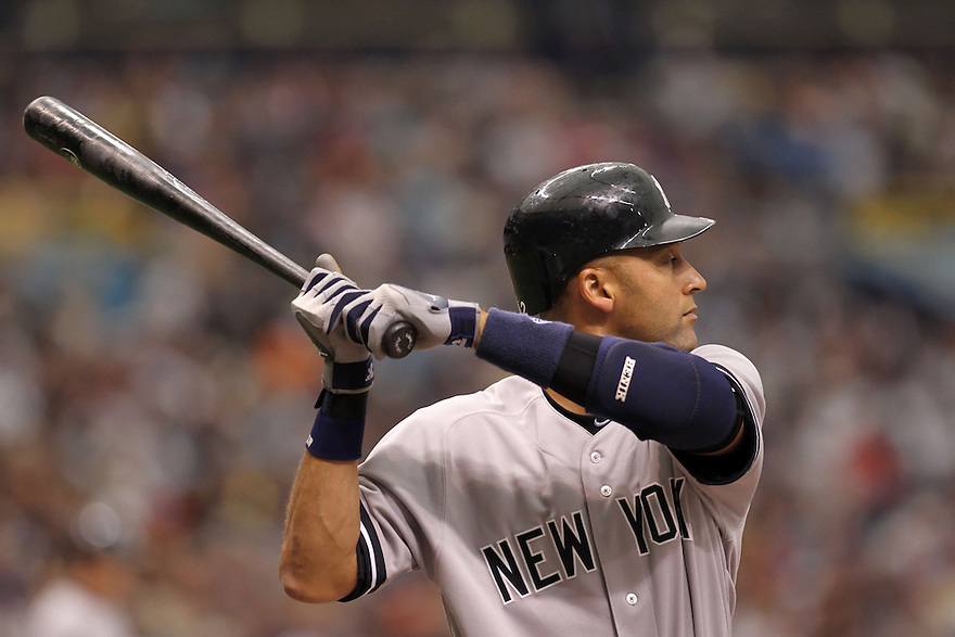 MLB New York Yankees v Tampa Rays at Tropicana field  04/08/2012.    photo by Trevor Collens.