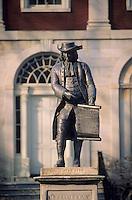 Amérique/Amérique du Nord/USA/Etats-Unis/Vallée du Delaware/Pennsylvanie/Philadelphie : Pennsylvania hospital - Statue de William Penn