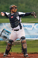 17 October 2010: Vincent Ferreira of Savigny is seen during Rouen 10-5 win over Savigny, during game 2 of the French championship finals, in Savigny sur Orge, France.