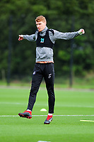Jay Fulton of Swansea City stretches during the Swansea City Training Session at The Fairwood Training Ground, Wales, UK. Tuesday 11th September 2018