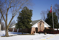 The former Bethel Heights City Hall is shown, Saturday, February 20, 2021 in Springdale. Check out nwaonline.com/210221Daily/ for today's photo gallery. <br /> (NWA Democrat-Gazette/Charlie Kaijo)
