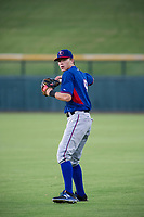 AZL Rangers Myles McKisic (9) warms up in the outfield prior to the game against the AZL Cubs on July 24, 2017 at Sloan Park in Mesa, Arizona. AZL Cubs defeated the AZL Rangers 2-1. (Zachary Lucy/Four Seam Images)