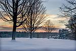 New Years Day near the town common in Petersham, Massachusetts