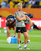 Pia Sundhage of team USA during the FIFA Women's World Cup at the FIFA Stadium in Dresden, Germany on June 28th, 2011.